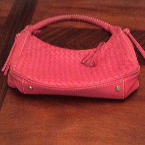 Talbots Woven Leather  Hobo Style Bag